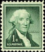 1954 USA George Washington Stamp Sc#1031? Famous History Post