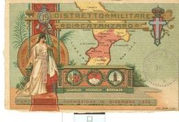 DISTRETTO MILITARE CATANZARO - MONTELEONE,CATANZARO,NICASTRO -CARTOLINA COLORI CON TIMBRO  DISTRETTO, N/V - - 1914-18