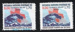 Oceania Post Tsunami Blue Ink Flaw. - New Zealand