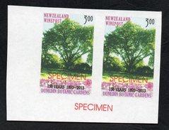 New Zealand Wine Post Dunedin Botanic Gardens Anniversary Specimen Overprints. - New Zealand