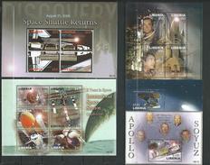 Liberia 2006 Space Exploration,5 Blocks MNH.