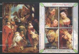 Liberia.2006.Christmas - Paintings By Rubens.Navidad.Noel.S/S MNH