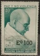CHILE 1974. I Centenario Del Nacimiento De Mahatma Gandhi, 1869-1948. Sobrecargado. USADO - USED - Chili