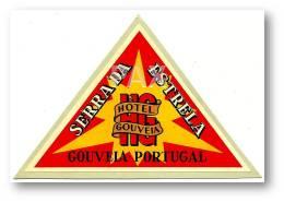 GOUVEIA - Serra Da Estrela - Hotel GOUVEIA ( 12,7 X 8,3 Cm ) - PORTUGAL - VINTAGE LUGGAGE LABEL - 2 SCANS - Hotel Labels