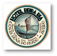 AVEIRO - ÍLHAVO - Costa Nova Do Prado - Hotel BEIRA RIA ( 7,5 X 7,5 Cm ) - PORTUGAL - VINTAGE LUGGAGE LABEL - 2 SCANS - Etiquettes D'hotels