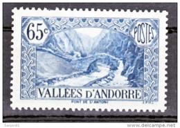 Andorre  68  Paysages Dent Courte 1937 Neuf Avec Trace De Charnière  * MH Con Charmela Cote 20