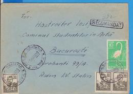 COVER  NICE COVER NICE STAMPS BIRD  ROMANIA 1959 POSTAL HISTORY