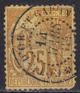 Colonies Françaises N° 53 Dents Courtes, Oblitération Côte D'or Et Gabon 14 Mars 1884