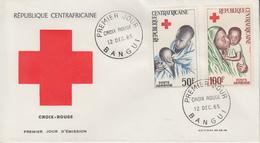 Enveloppe  FDC  1er  Jour   REPUBLIQUE   CENTRAFRICAINE    CROIX  ROUGE   1965