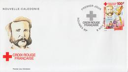Enveloppe  FDC  1er  Jour   NOUVELLE  CALEDONIE    Henry  DUNANT  CROIX  ROUGE   2000