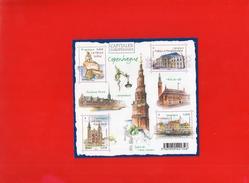 "FEUILLET  2012  --  Y & T  F  4637   --  CAPITALES  EUROPEENNES  --  """"  COPENHAGUE  """"   --  NEUF... - Sheetlets"