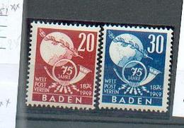 Bade - Oc Fr - 1 - YT 56 - 57 **