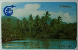 DOMINICA - GPT - 2CDMA - $5.40 - Indian River & Palms - DOM-2A - 1000ex - Mint - Dominica