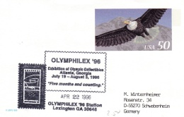 USA Postal Stationary 1996 Atlanta Exhibition Of Olympic Collectibles (G69-7A)