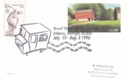 USA Postal Stationary 1996 Atlanta Broad Station Mobile Station (G69-7A)