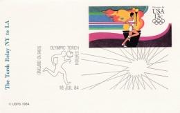 USA Postal Stationary 1984 XXIII Olympic Station Torch Station Oakland (G69-7A) - Zomer 1984: Los Angeles