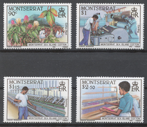 Montserrat 586-89** COTTON INDUSTRY - Montserrat