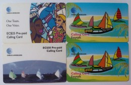 ST VINCENT & THE GRENADINES - Remote Memory - Pre-Paid - Easy Talk & One Team - 4 Cards - Used - St. Vincent & The Grenadines