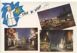Lille By Night (illuminée La Nuit) Multivues  N°3 Vierge - Lille