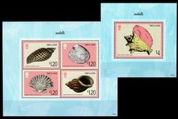 Turks & Caicos 2014 MNH SS+MS, Marine Life, Sea Shells