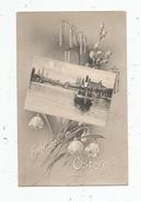 Cp , Bateaux , FRÖHLICHE OSTERN , JOYEUSES PÂQUES , Voyagée 1907 - Commerce