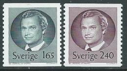 1981 SVEZIA EFFIGIE RE CARLO XVI GUSTAVO MNH ** - P54-6