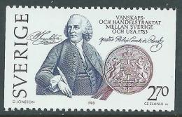1983 SVEZIA TRATTATO STATI UNITI FRANKLIN MNH ** - P54-8