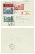 Liechtenstein // 1912-1950  // Lettre Recommandée-expres 1er Jour Pour Basel