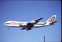 SLIDE / DIAPOSITIVE   KODAK  ORIGINAL   ALITALIA CARGO   B 747     I-DEMR - Diapositivas