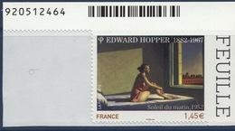 N° 661A Adhésif , Edward Hopper, Valeur Faciale 1,45 € - France