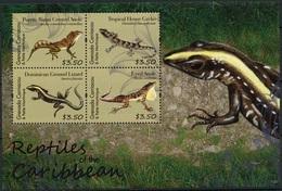 Grenada Gr 2012 MNH SS, Reptiles, Gecko, Lizard, Eyed Anole