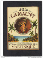 étiquette  Rhum LAMAUNY Martinique - Rhum