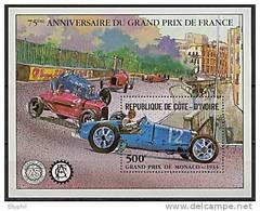 Côte D´Ivoire, BF N° 20** Y Et T, Bloc-feuillet, Anniversaire Grand Prix De France