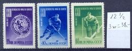 USSR 1957 Moscow.The World Championship On Hockey Mi1919A-1921A 3v**