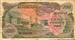 CONGO REPUBLIQUE  100 FRANCS Du 5-6-1963  Pick 1a  RARE - Democratic Republic Of The Congo & Zaire