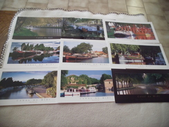 LOT DE 9 CARTES CANAL DU MIDI ..FORMAT 21 X 10.5 - Ansichtskarten