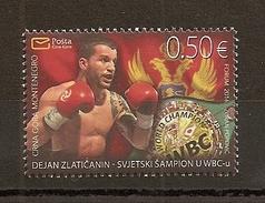 MONTENEGRO 2016,SPORT,BOXING,WBC WORD CHAMPIONSHIP, DEJAN ZLATICANIN,MNH