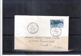 Expo 58 - Lettre En Premier Jour Vers La Belgique - Pavillon De La France (à Voir)