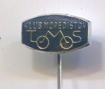 Motorbike, Motorcycle, Motorrad, Scooter - TOMOS Slovenia, Club Motorcyclists, Vintage Pin Badge, Abzeichen - Motorräder