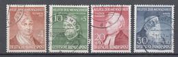 Allemagne  1952  Série Oblitéré Michel : 156 - 159