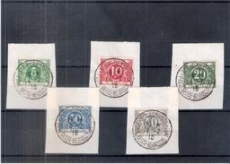 Belgique Taxe TX12/16 - Série Complète Sur Fragment Avec Oblitération Ste Adresse 1918 - CV:150,00 (à Voir)