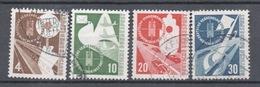 Allemagne  1953  Série Oblitéré Michel : 167 - 170 Cote 55€