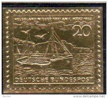 Deutschland Edition Raritäten In Gold BRD 152 ** 50€ Feingold 23 Karat Insel Helgoland Schiff Ship Stamp Of Germany - Briefe U. Dokumente