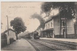 01 (Ain) St  Etienne Du Bois  -  La Gare  ,  Train  -  Timbrée 1924 ( Timbre J O 1924 De Paris) - France