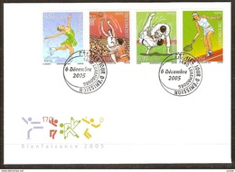 Luxembourg Luxemburg 2005 Yvertn° 1644-1647 (°) Used FDC  Cote Des Timbres 11 Euro Sport - FDC
