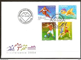 Luxembourg Luxemburg 2004 Yvertn° 1603-1606 (°) Used FDC  Cote Des Timbres 10 Euro Sport - FDC