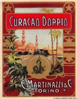 """06645 """"CURACAO DOPPIO - E. MARTINAZZI & C. - TORINO"""" ETICH. ORIG. - Etichette"""