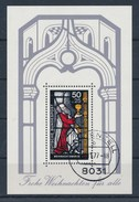 BRD Mi. Block 15 Gest. Weihnachten Glasfenster Basilika Köln TGST