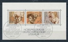 BRD Mi. Block 16 Gest. Nobelpreisträger Literatur Hauptmann Hesse Mann SST Bonn Ersttag