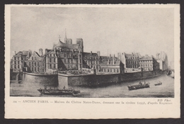 D 75 - ANCIEN PARIS - 394 - Maison Du Vloître Notre-Dame Donnant Sur La Rivière - 1753 - France
